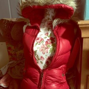 Red Vest with Faux Fur